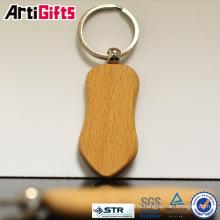 Handmade decorative guitar wooden keychain