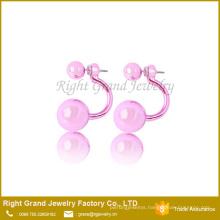 Double Pearl Disco Ball Earring Studs