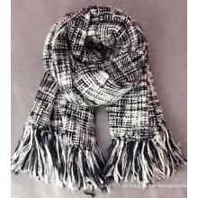 Moda damas houndstooth bufanda de gran tamaño