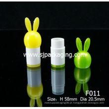 Tubo de bálsamo labial dos desenhos animados Rabbit Lipstick tube lip bálsamo recipiente