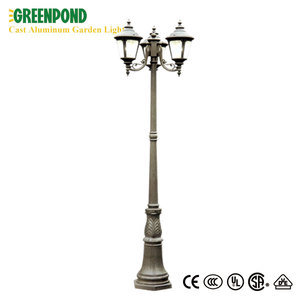 Double Heads Dimmable Cast Aluminum Garden Lamp