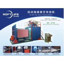Material-saving automatic vacuum sponge foaming machine