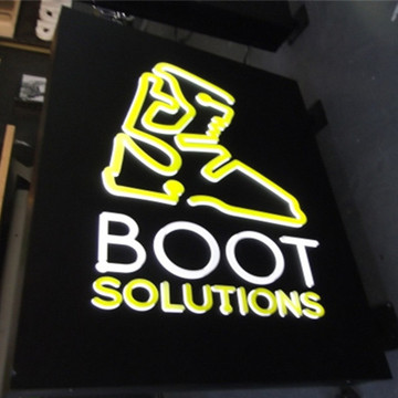 Utomhus Reklam Metal Light Box Signs