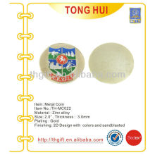 Promotional gold plated Metal Commemorative coin,souvenir coin with enamel paint