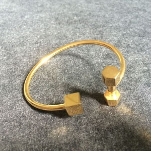 Mäns Single Square Hantelformade Öppna Bangle Armband