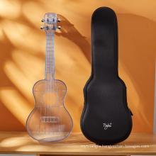 2020 korea popular ukulele 23inch colorful acrylic solid mini guitar bass for students