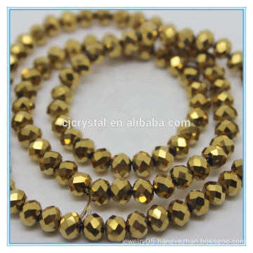 gold colored rondelle beads cut glass beads china