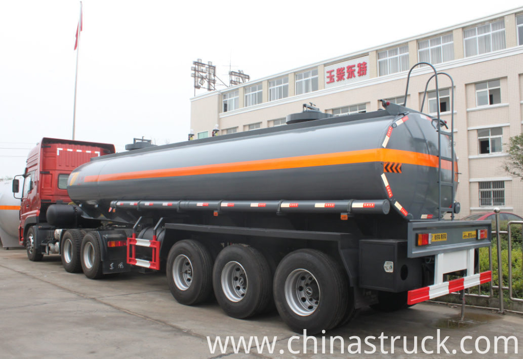 PE lined steel 35% HCL tank semi-trailer