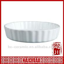 Microondas prato de torta de cozimento, placa de torta de cerâmica