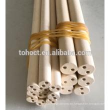 Tubo de cerámica porosa Magnesia multi agujeros