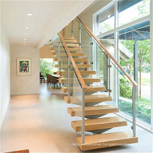 Customized Home Inside Straight Stair Case Modern Indoor Small Space Stairs