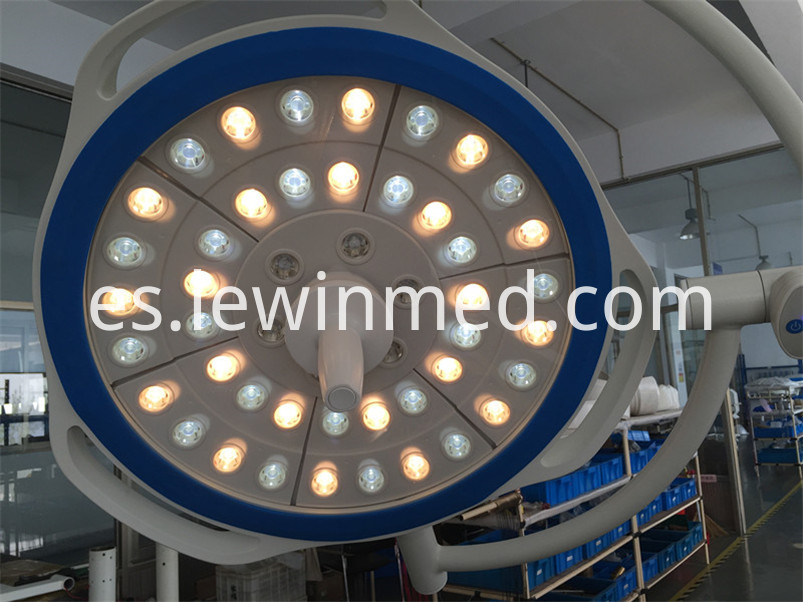 Shadowless surgical led lamp