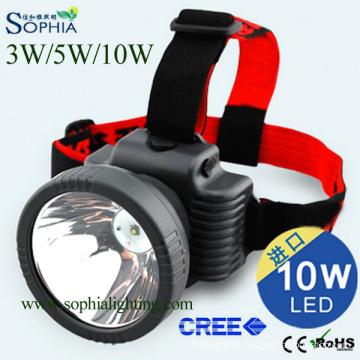 Rechargeable Headlight, Headlamp, Bicycler′s Lamp, Camping Light, Fishing Light