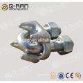 Aparelhamento de gota forjou a corda de fio grampo prendedor de braçadeira de aço carbono