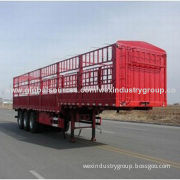 Global hot sale China 3 axles cargo semi trailer