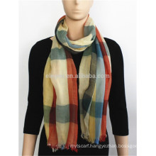 Rayon Yarn Dyed Scarf with fringe
