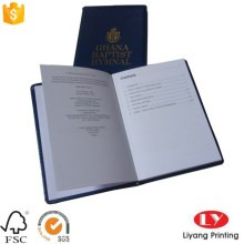 Lederen cover office notebook met gouden logo