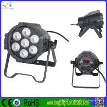 Attractive price 7*10W RGBW 4in1 Led Flat Par Can/led stage par light