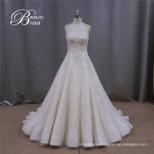 Tiered Ruched Champagne Wedding Dresses