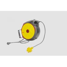 Carrete de cable retráctil de rebobinado automático
