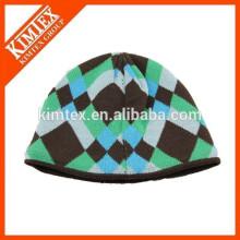 Jacquard personalizado invierno acrílico divertido sombrero de punto de gorrita tejida