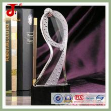 Trophée en cristal de cristal d'iceberg transparent (JD-CT-324)