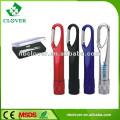 Promotion Mini 9 LED Taschenlampe mit Karabiner