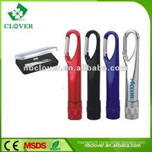 Promotional mini 9 led flashlight with carabiner
