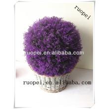 Bola de grama de lavanda roxo artificial para decoração de casa e jardim
