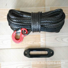China for Winch Rope 12 Strand UHMWPE Winch Rope Mooring Rope Black export to Mongolia Manufacturers
