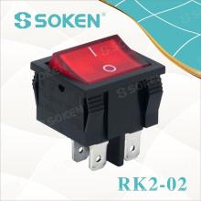Interruptor basculante iluminado 10A 250VAC