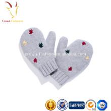 Nouvelle mode pas cher hiver tricotage en gros mélangé gants sans doigts pour les filles