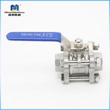 Válvula de bola de acero inoxidable 1/4 de entrega rápida de alta calidad