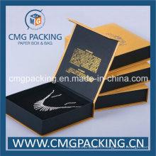 Boîte d'affichage de collier pour bijoux avec impression de logo