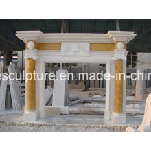 Natural Stone Cylindrical Marble Fireplace (SY-MF227)