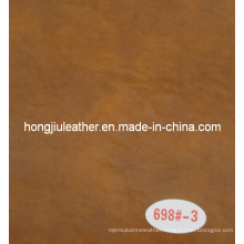 Crack Decorative Leather with Two Colors (698#)
