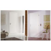 Precio bajo Dormitorio Puerta de rasante de madera blanca