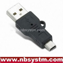 USB adapter with ear A male to mini 5pin