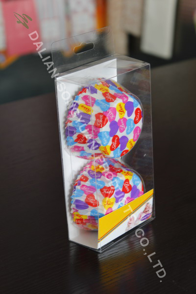 Plastic box packing-cupcake liner
