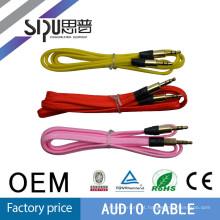SIPU venda quente colorida ouro conector 3,5 mm cabo audio do vedio
