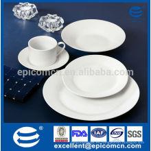Diario de uso de hotel y restaurante blanco ronda platos de cena, porcelana placas al por mayor, placas de cerámica