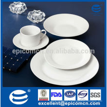 Plats cuisinés ronds blancs et hôteliers à usage quotidien, plaques en porcelaine en gros, plaques céramiques