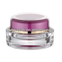 Tarros de crema cosmética de plástico oval de lujo