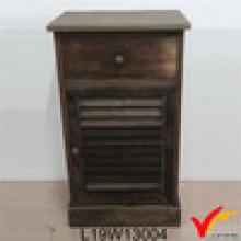 Gabinete de cabecera de madera de estilo antiguo