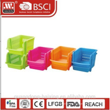 Plasitc stackable utility basket
