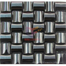 Black Arch Shape 304 Stainless Steel Metal Mosaic (CFM886)