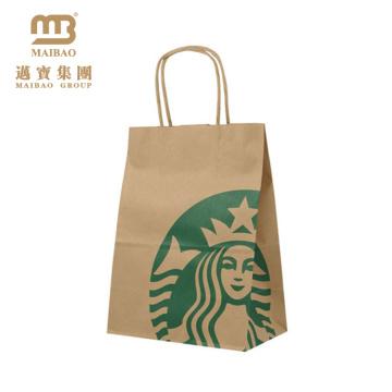 Chine Les achats bon marché en gros faits sur commande d'impression de fabricants réutilisent les sacs en papier de papier d'emballage de Brown pour l'épicerie