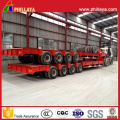 4lines 8axles 120tons Low Boy Transportation Semi Truck Lowbed Trailer