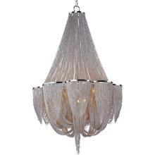Modern Design Home Decor Chain Chandelier Lighting Round Iron Living Room Decoration Aluminum G9 Pendant Light