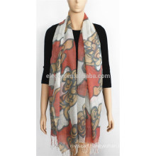New Design Floral Print Acrylic Scarf